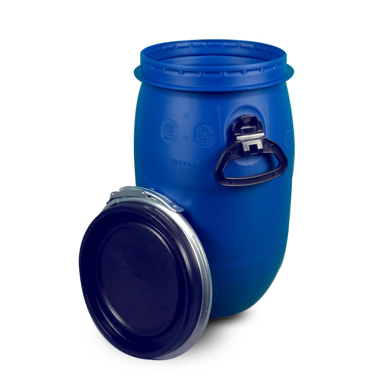 30 L Kunststoffdeckelfass, blau, lebensmittelecht, MAUSER, UN