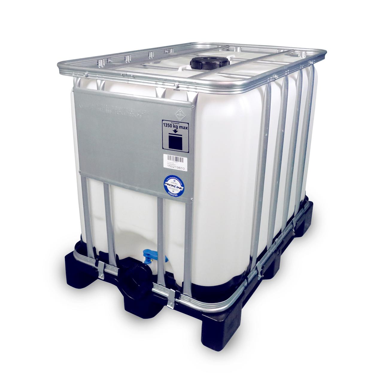 600 L IBC Container, Kunststoff-Palette, 150/50, UN Zulassung