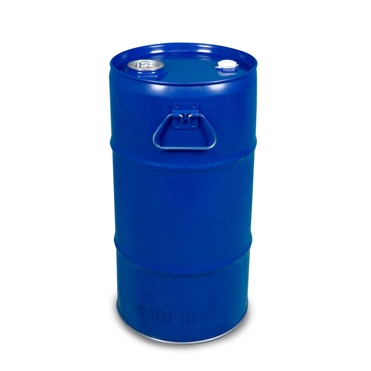 30 L Stahlspundbehälter, lackiert, blau 5010, FDA, UN Zulassung