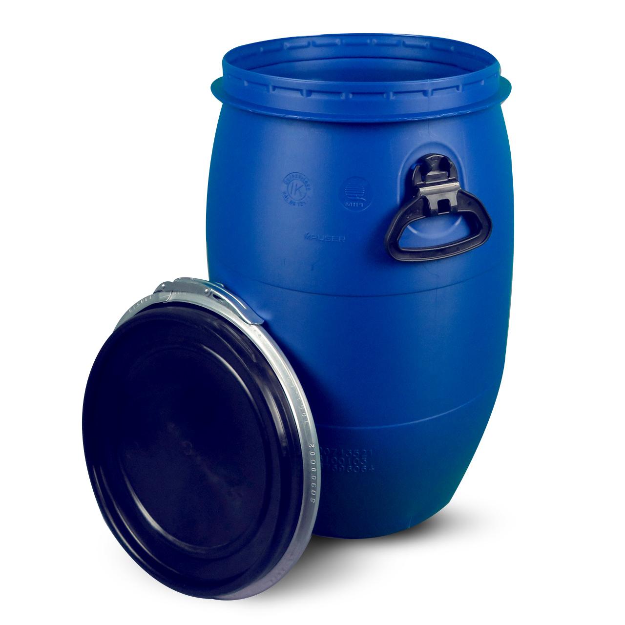 60 L Kunststoffdeckelfass, blau, MAUSER, UN Zulassung