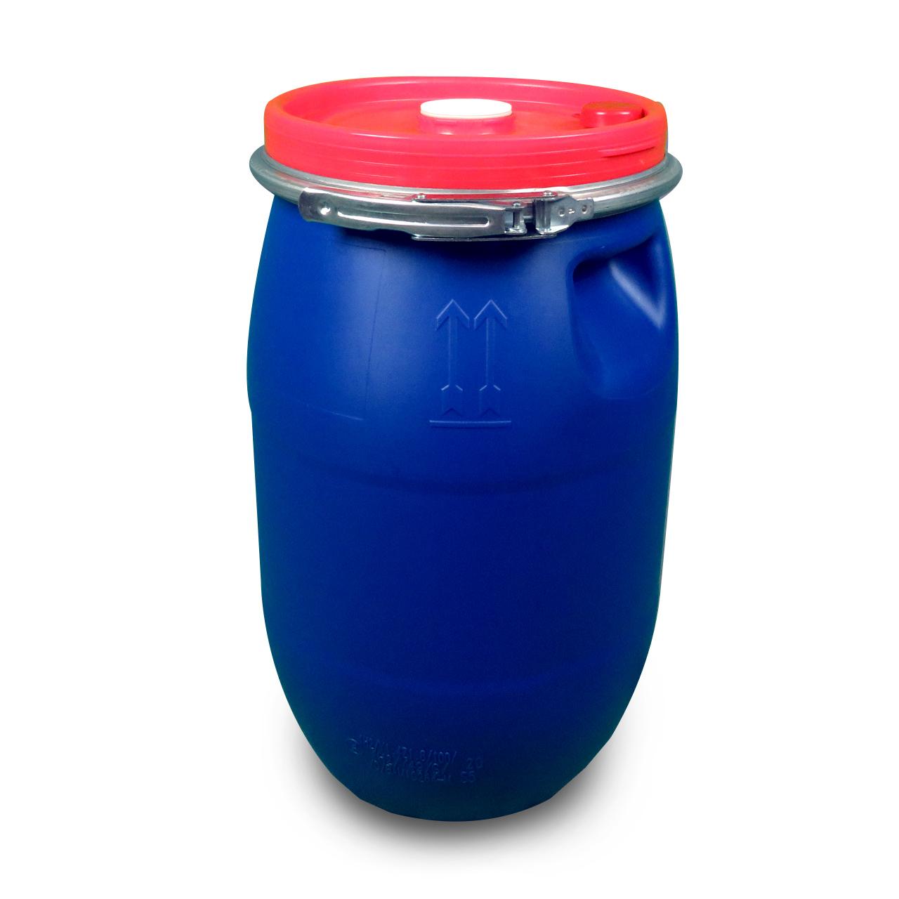 """30 L Kunststoffdeckelfass, blau, 2"""" Spund, UN Y Flüssigkeit"""