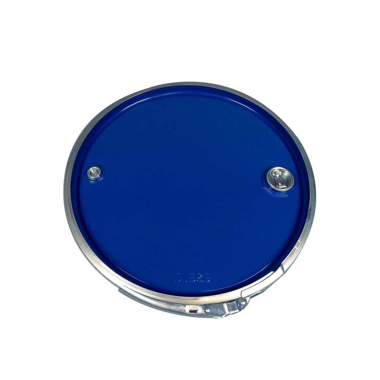 212 L Stahldeckelfass, roh, blau, Spunde, UN (fest + flüssig)