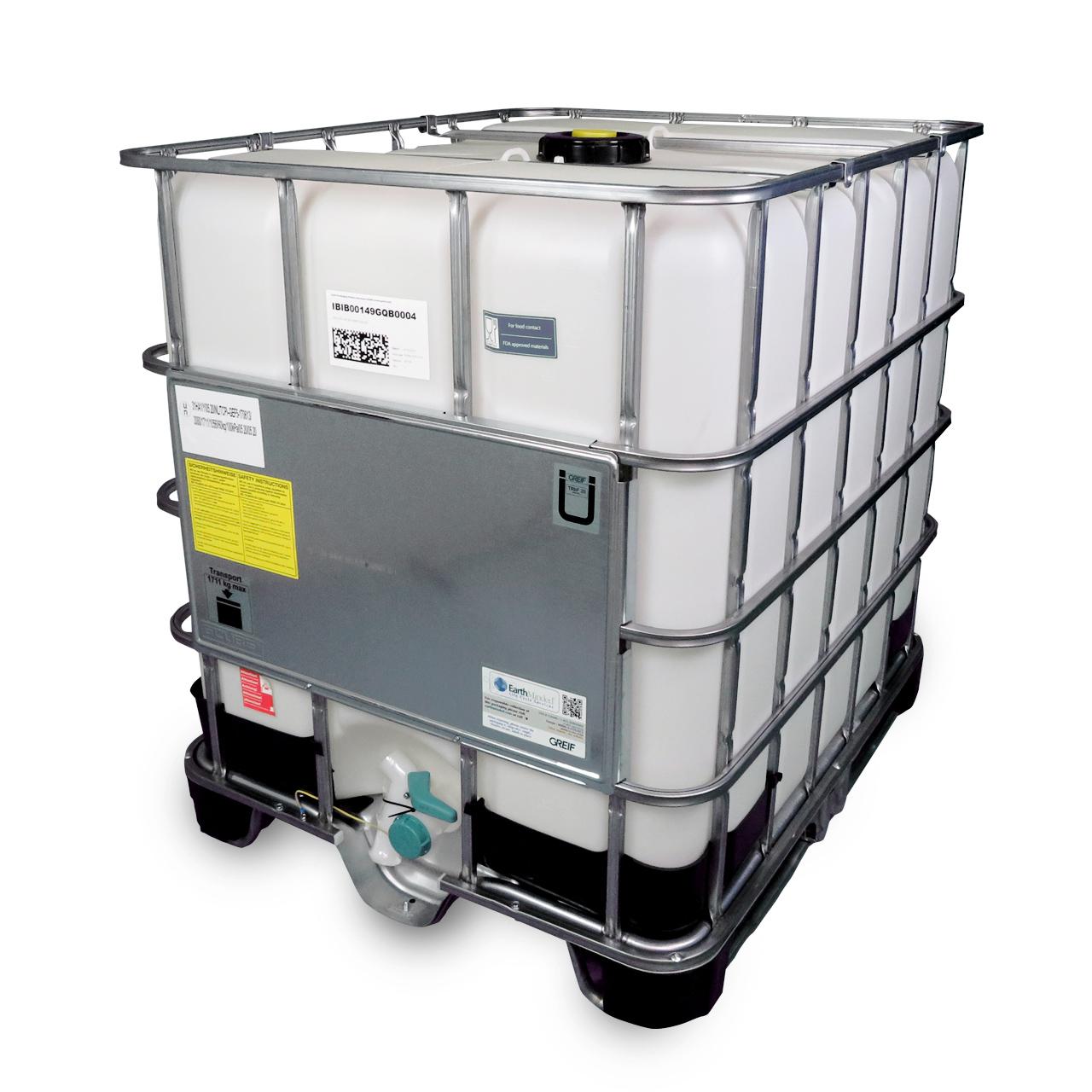 1000 L IBC Container, Hybrid-Palette, EX, FDA, Entgasung, UN