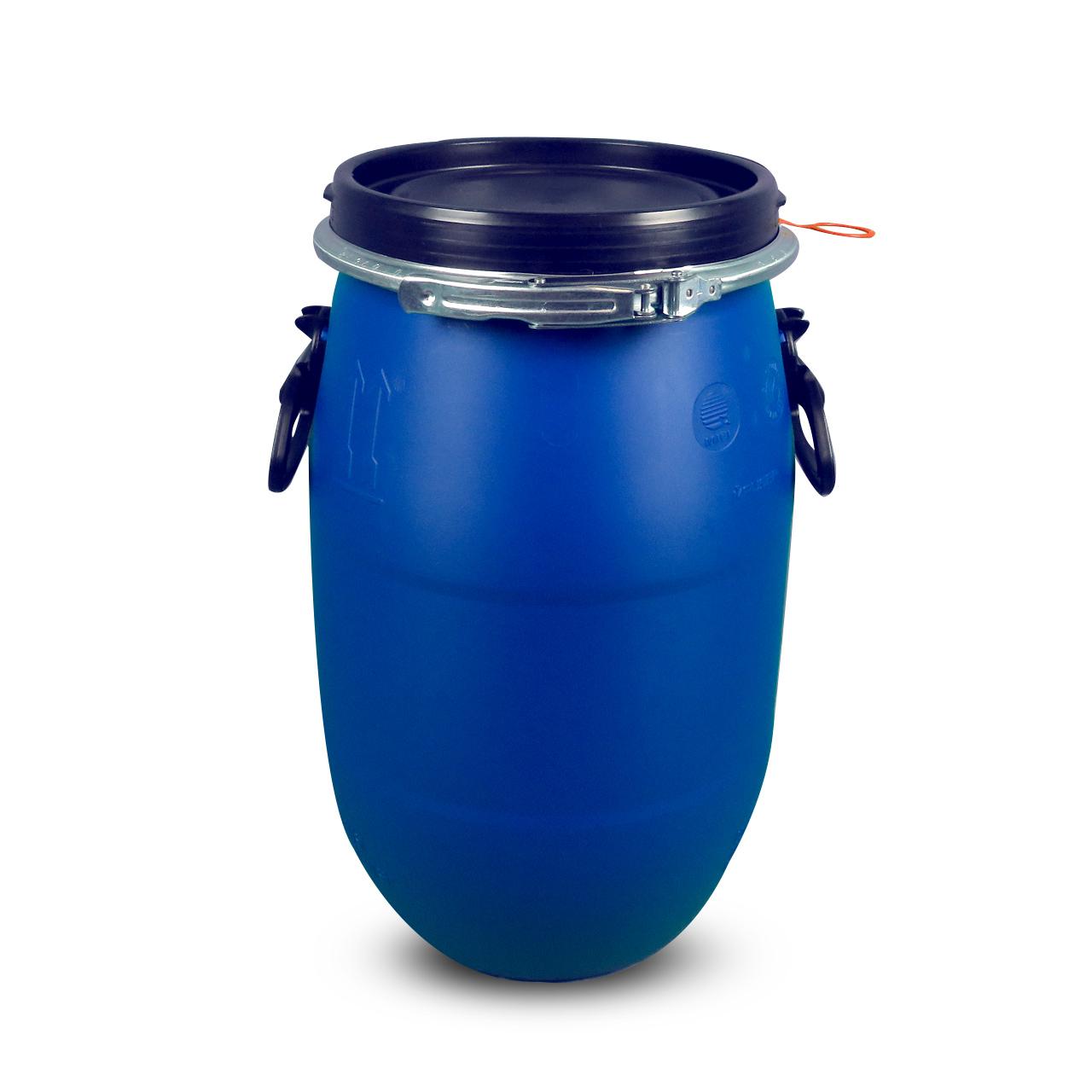 30 L Kunststoffdeckelfass, blau, Entgasung, MAUSER, UN