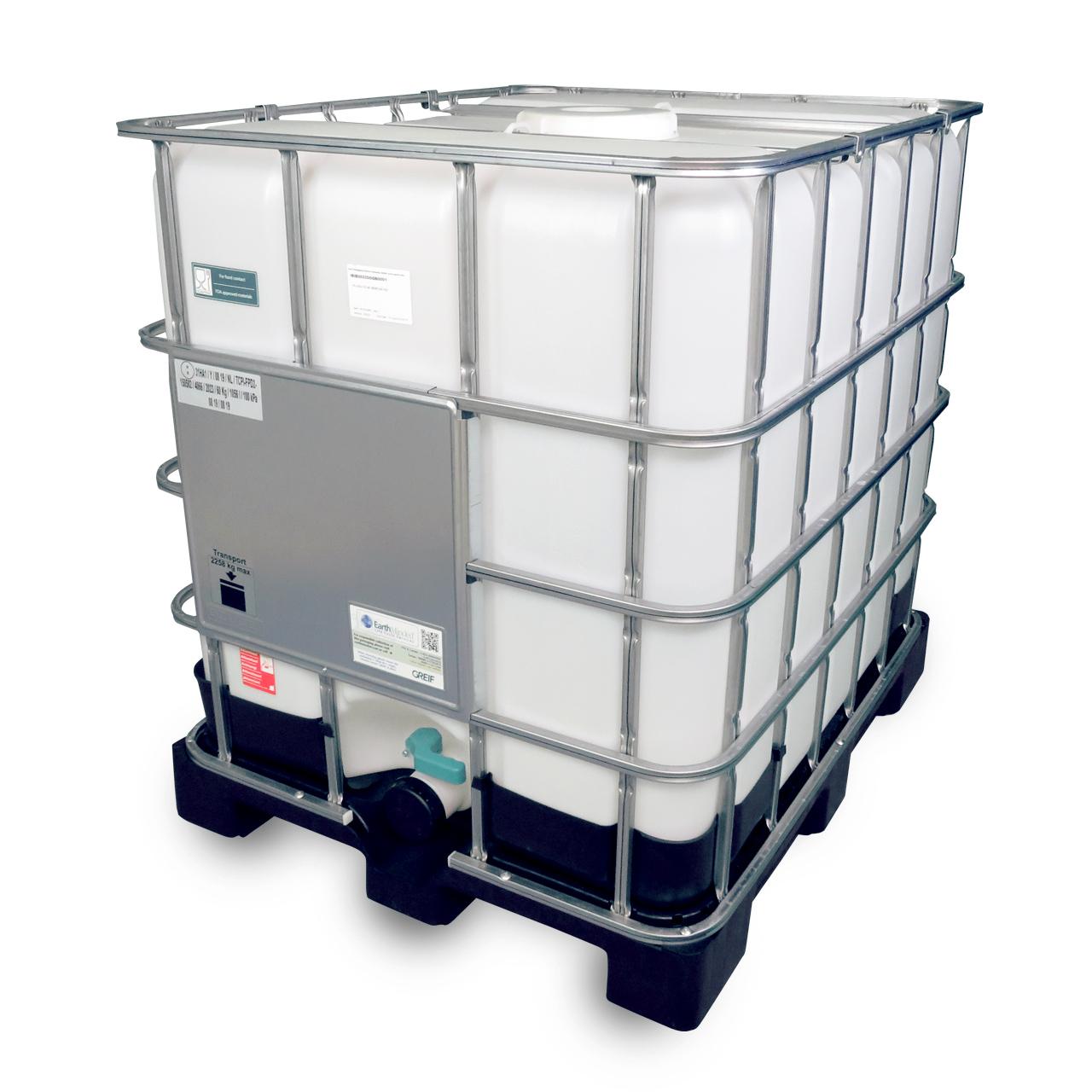 1000 L IBC Container, Kunststoff-Palette, 225/80, FDA, UN