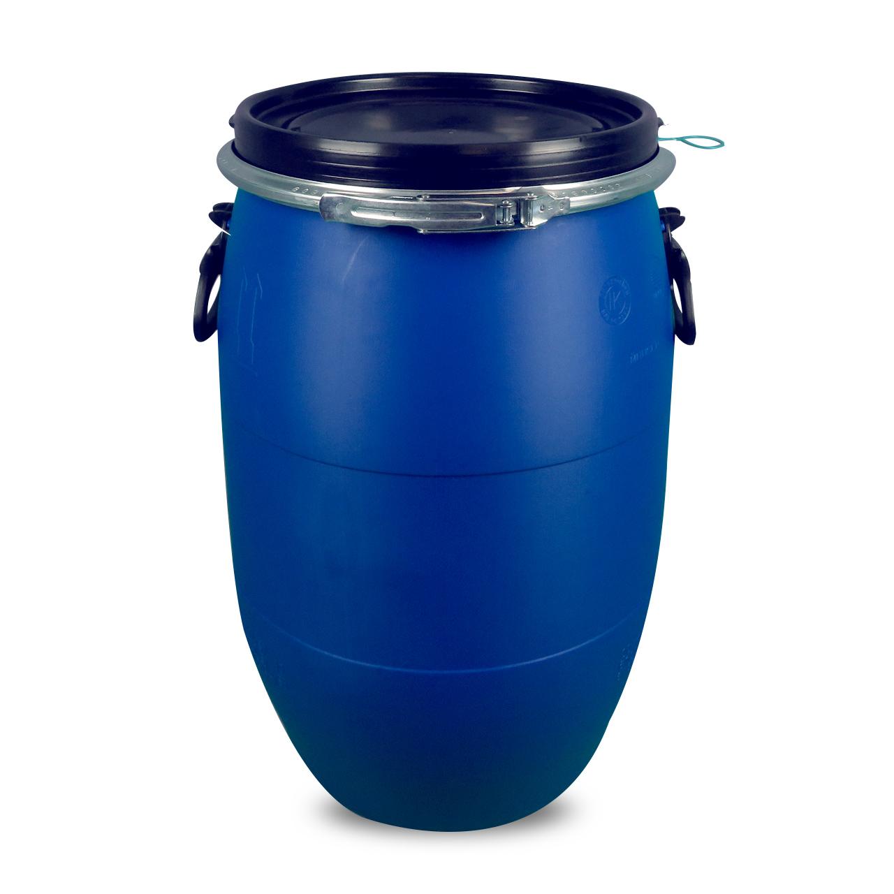 60 L Kunststoffdeckelfass, blau, lebensmittelecht, MAUSER, UN