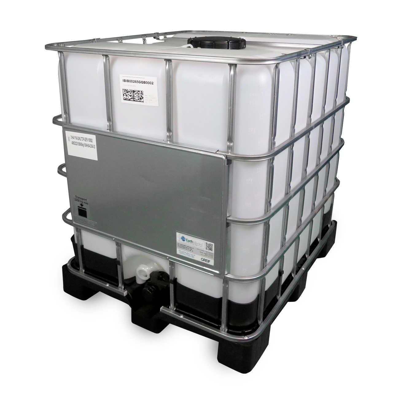 1000 L IBC Container, Kunststoff-Palette, 225/50, UN Zulassung