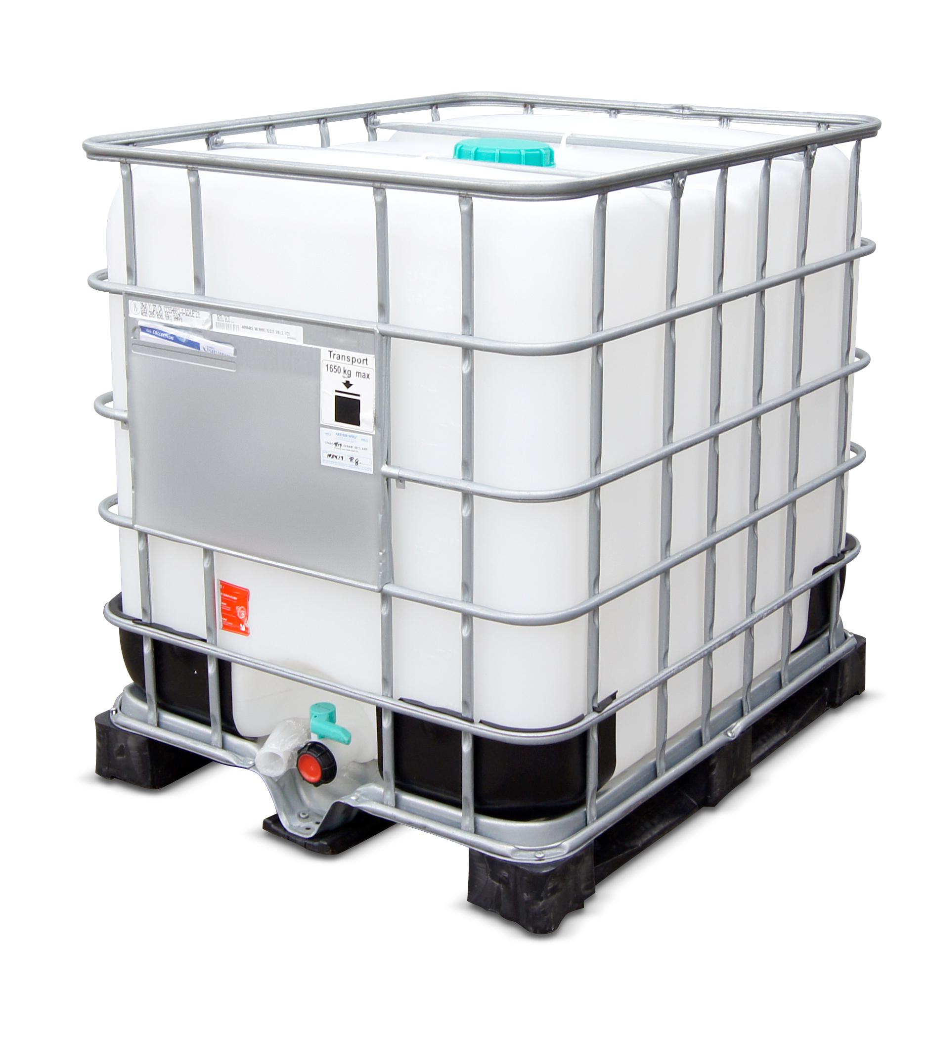 1000 L IBC Container, Kunststoffpalette, gebraucht gereinigt, 150/50, UN