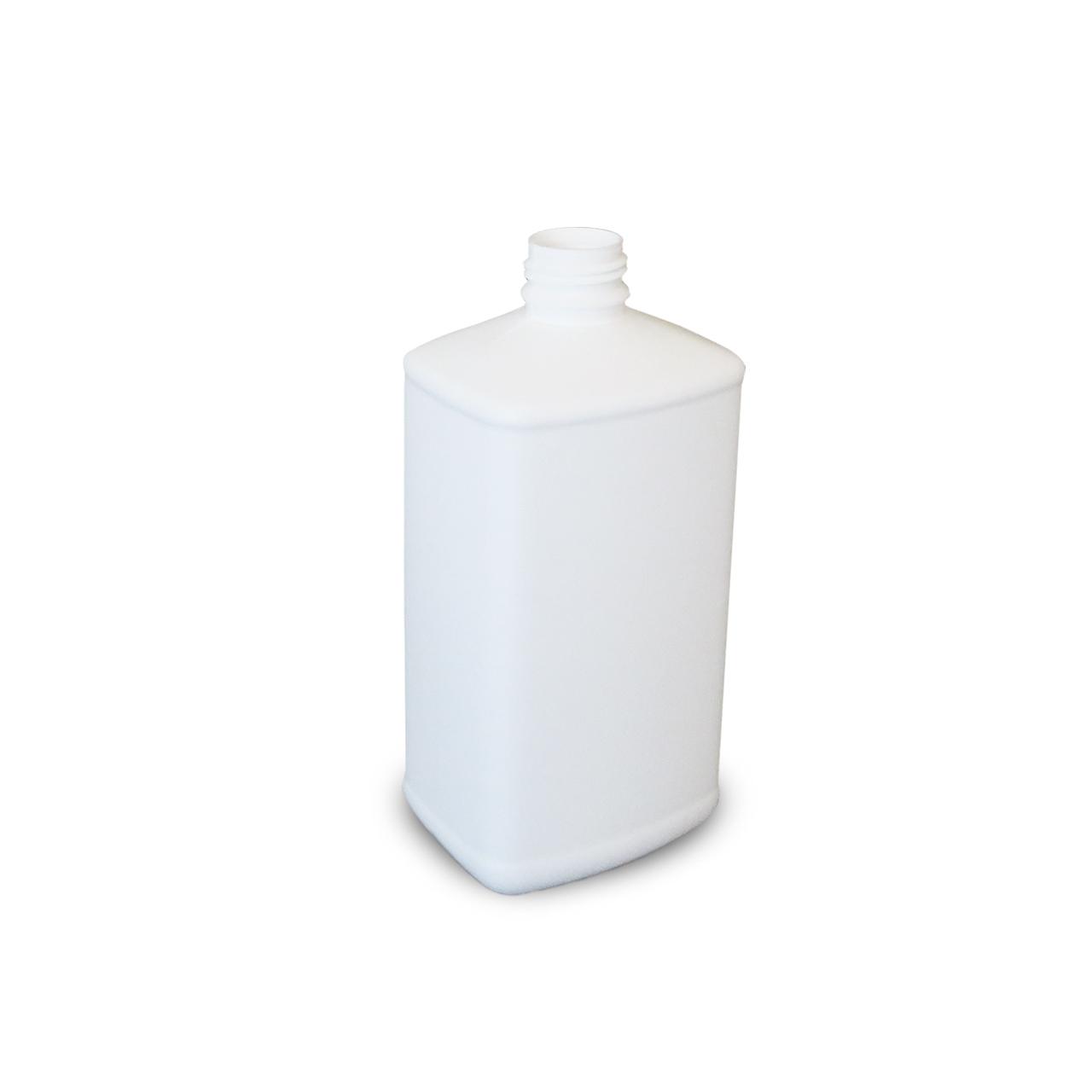 500 ml Kunststoffflasche, weiß, eckig, EÖ 32, FDA, o. UN