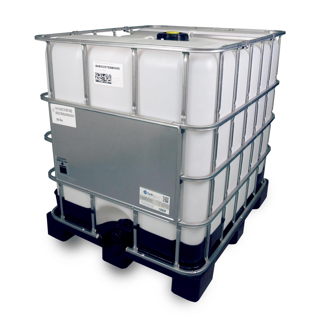 1000 L IBC Container, Kunststoff-Palette, 150/50, Entgasung, UN