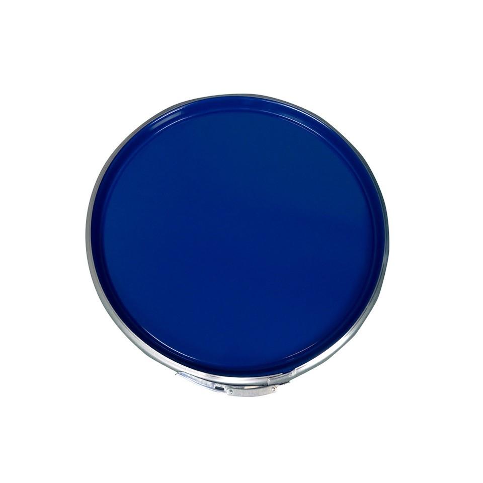 210 L ISO-Stahldeckelfass, roh, blau, UN (Feststoff)