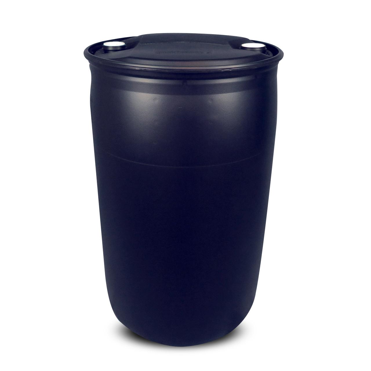 220 L Kunststoffspundfass, L-Ring, schwarz, EX geschützt, UN