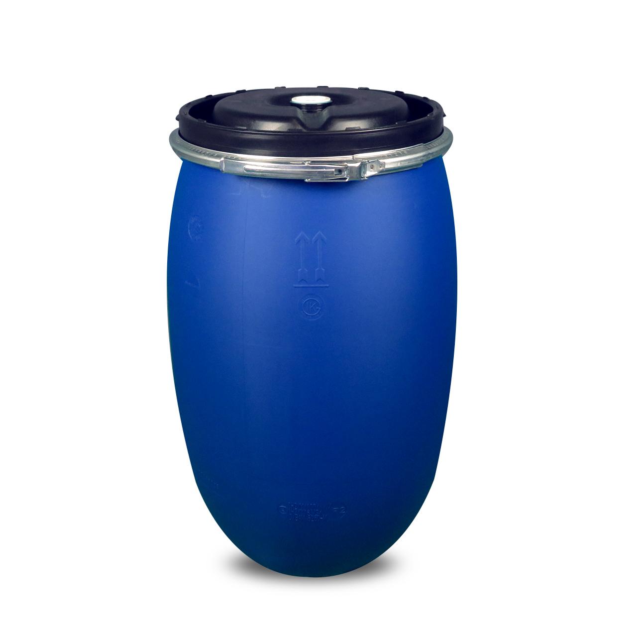"""120 L Kunststoffdeckelfass, blau, 2"""" Spund, UN Y Flüssigkeit"""