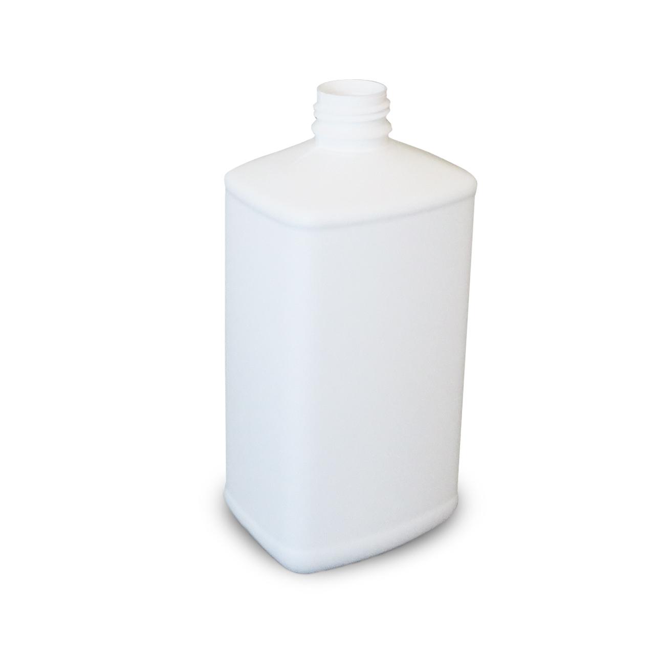1000 ml Kunststoffflasche, weiß, eckig, EÖ 32, FDA, o. UN